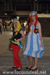 Cosplayers Asterix Obelix Salón Cómic Barcelona