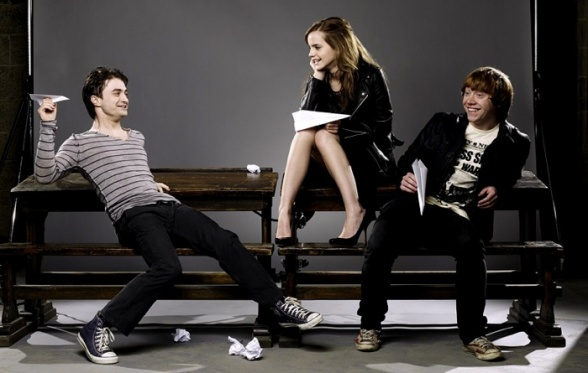 Daniel Radcliffe Emma Watson and Rupert Grint Harry Potter