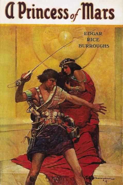 "Portada de la novela ""Una Princesa de Marte"""