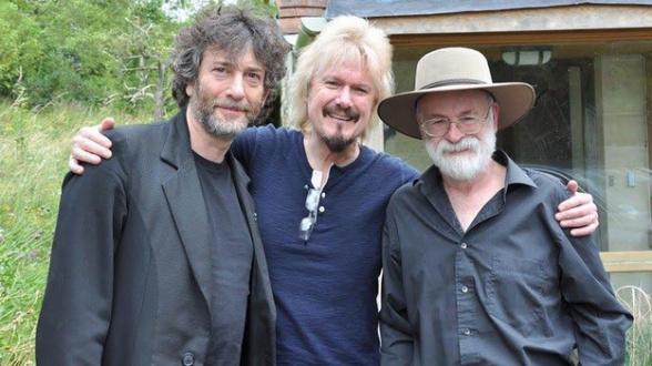 Neil Gaiman y Terry Pratchett BBC