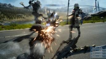 Final Fantasy XV (lucha en carretera 3)