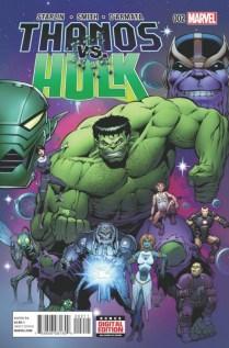 Thanos vs Hulk portada