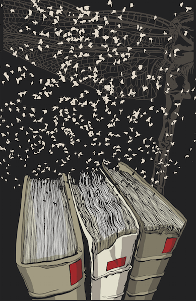 "Haruki Murakami y Kat Menschik en ""La biblioteca secreta"""