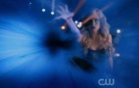 Danielle Panabaker como Killer Frost en el final de la primera temporada de 'The Flash'