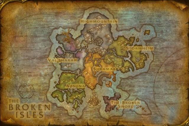 Las islas abruptas World of Warcraft