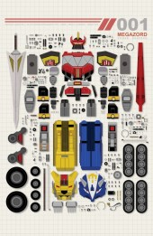 Power Rangers Variant Cover Ultimate X