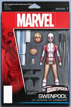 The Unveliebable Gwenpool Portada figura de acción de John Tyler Christopher