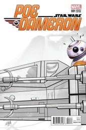 Poe Dameron #1 (David Nakayama Premiere Sketch Variant Cover)