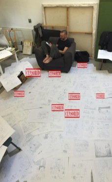 Frank Quitely trabajando en 'Jupiter's Legacy 2'