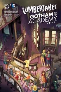 Lumberjanes Gotham Academy Portada alternativa de Kelly Matthews y Nichole Matthews