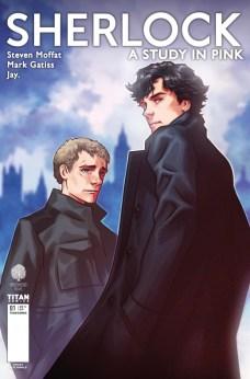 Sherlock A Study in Pink Portada alternativa de Alex Ronald