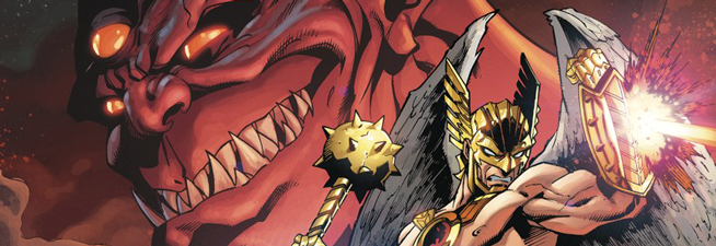 Hawkman and Adam Strange Out of Time Destacada