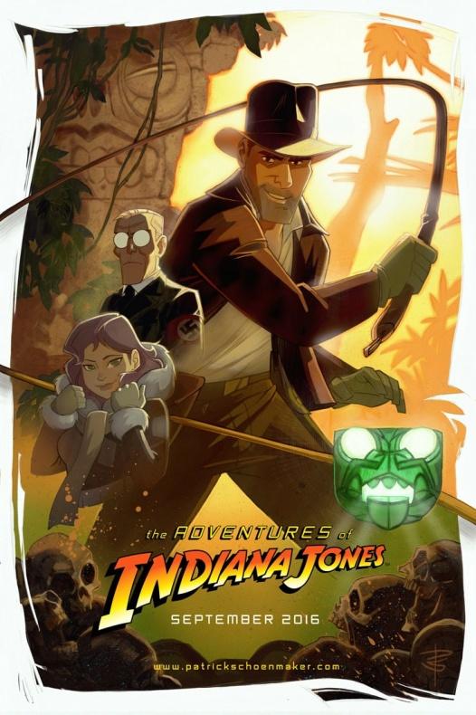 Teaser póster de 'Las aventuras de Indiana Jones'