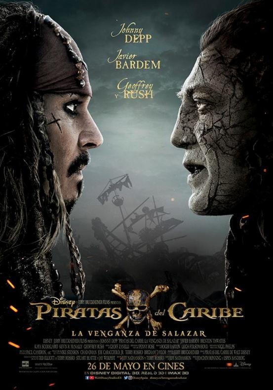 Piratas del Caribe póster