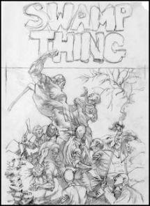 Swamp Thing - boceto de portada - Bernie Wrightson
