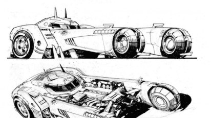 batman white knight batmobile