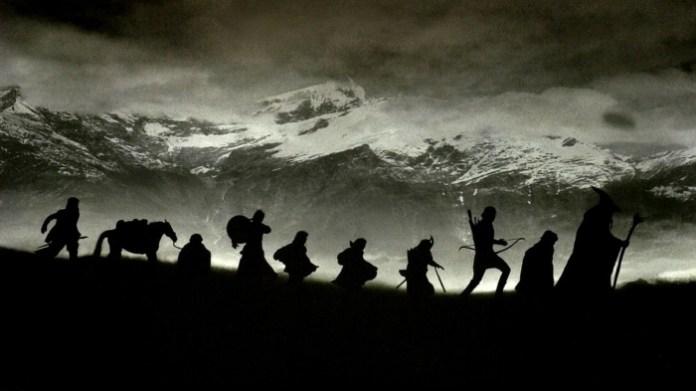 El Señor de los Anillos - siluetas