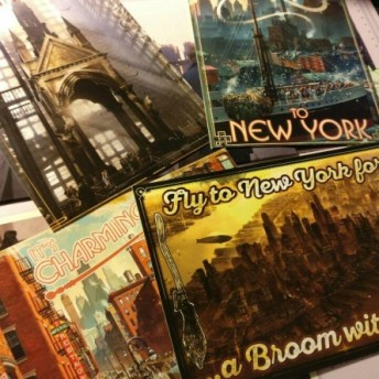 Las postales incluidas en el libro