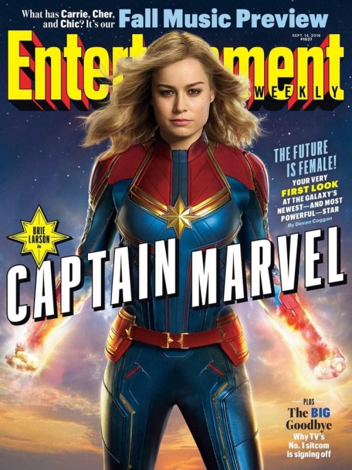 Capitana Marvel - primera imagen oficial - portada Entertainment Weekly