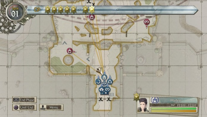 Valkyria Chronicles 4 mapa