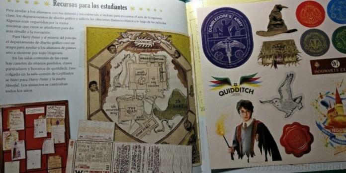 hogwarts pagina con pegatinas