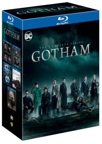 Diseño del box set de Gotham en su edición completa.