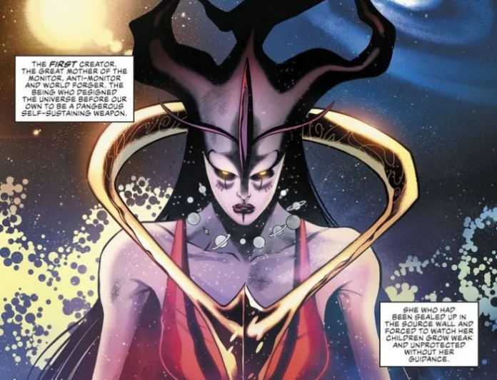 Aspecto oficial de Perpetua en Justice League Annual #1.