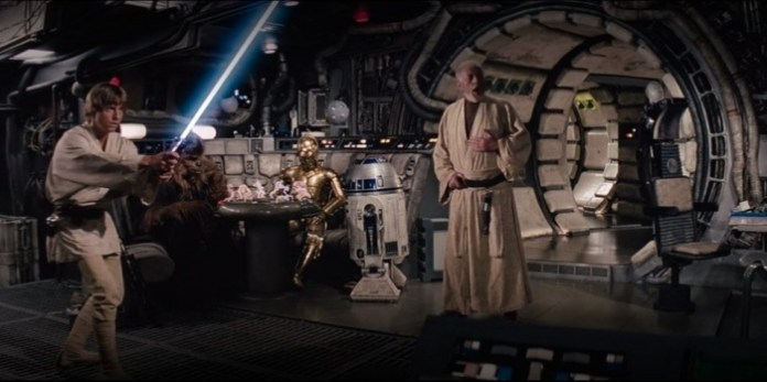 Horizontal Star Wars A New Hope Obi wan Kenobi Luke Falcon Disney