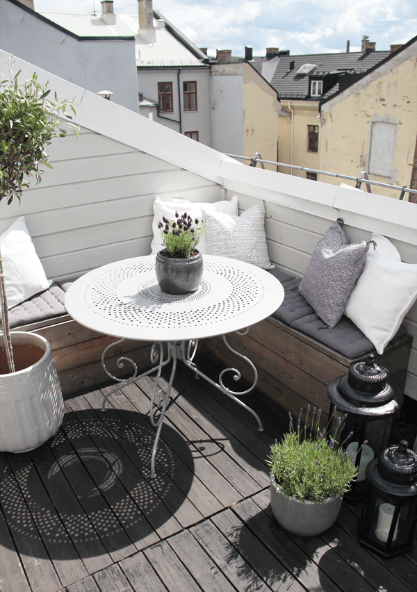 cozy balcony terrace summer 2