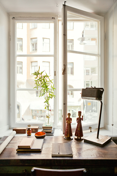 small swedish scandinavian bohemian apartment 10