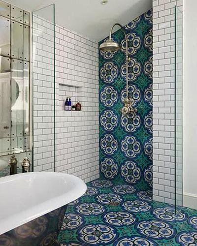 transform your bathroom with boho tiles 7