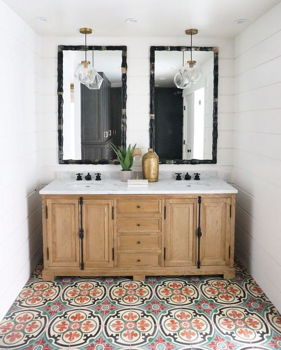transform your bathroom with boho tiles 8