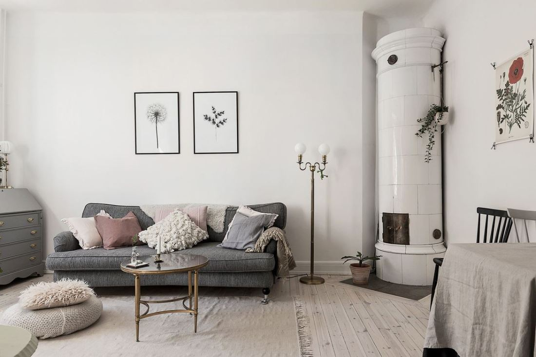 Romantic Scandinavian apartment 02