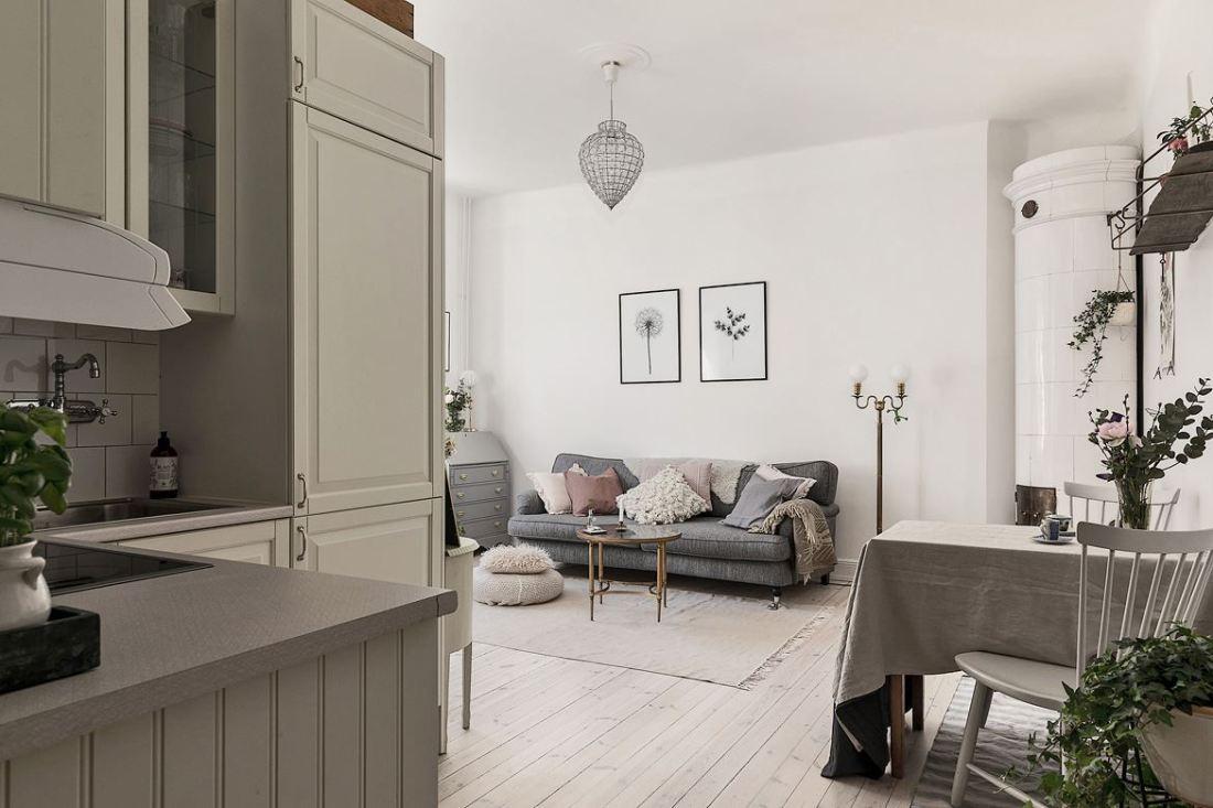 Romantic Scandinavian apartment 12