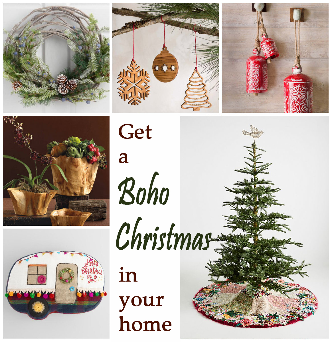 Get a boho Christmas in your home