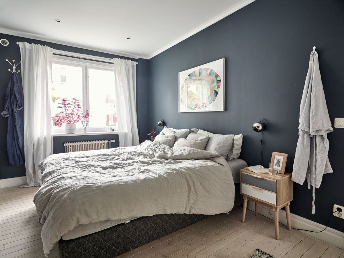 Metal, pink and blue palette in a Scandinavian decoration 09