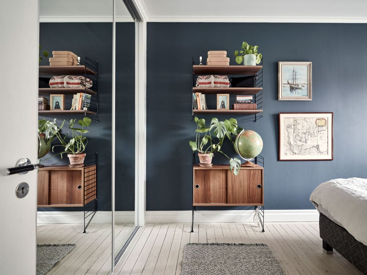 Metal, pink and blue palette in a Scandinavian decoration 13