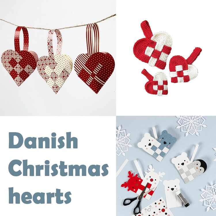 Christmas hearts to decorate the tree