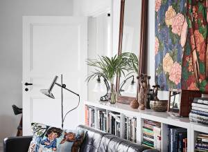 A romantic and modern apartment with floral patterns 01