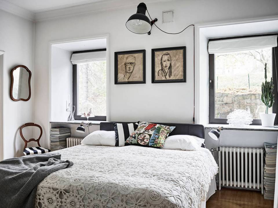 A romantic and modern apartment with floral patterns 09