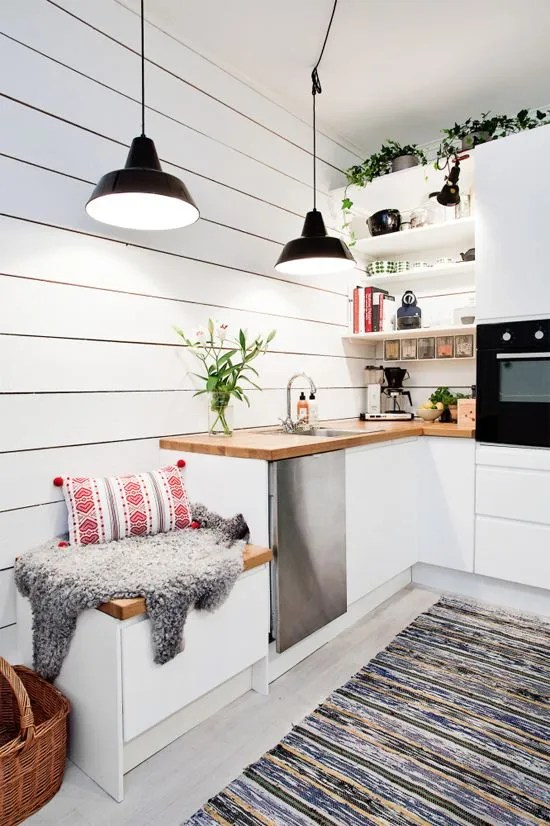 How to illuminate your kitchen countertop if you do not have upper cabinets or shelves 03
