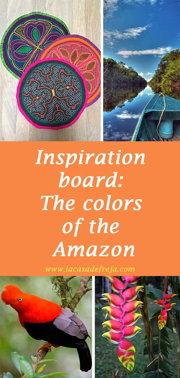 Inspiration board The colors of the Amazon Rainforest 00
