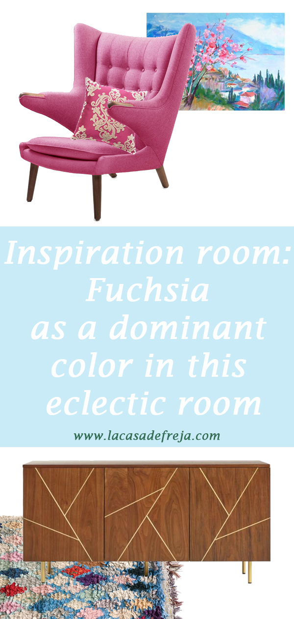 Inspiration room Fuchsia as a dominant color in this eclectic room 01