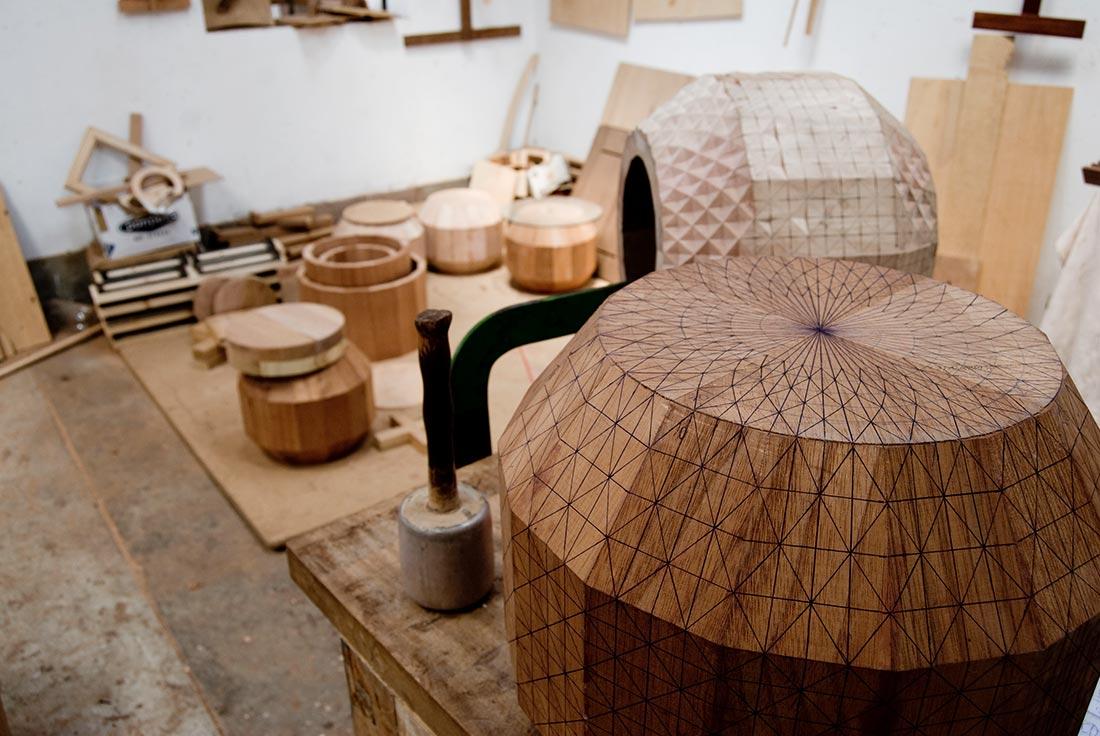 Scandinavian design and Peruvian craftsmanship Prehistoric Aliens by Glimpt Studio 01