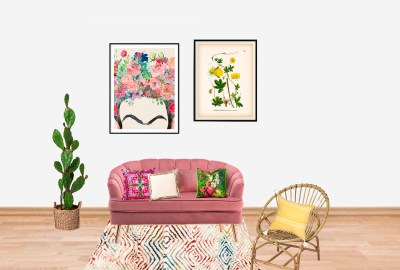 A living room inspired by Frida Kahlo