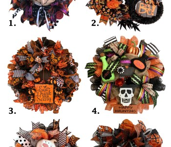 Halloween wreaths for this 31