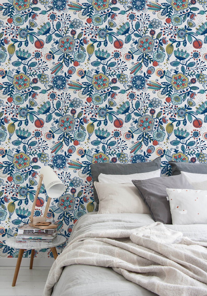 Latest trends in wallpaper in 2019 risky combinations 11