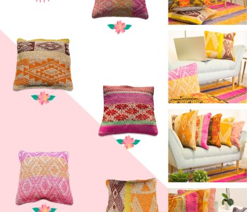 Welcoming spring with this selection of cushions