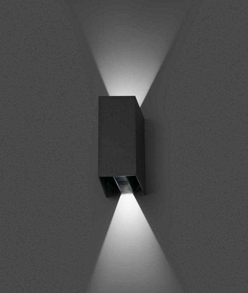 Aplique de pared exterior BLIND gris  La Casa de la Lmpara
