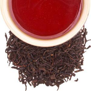 té negro con cereza